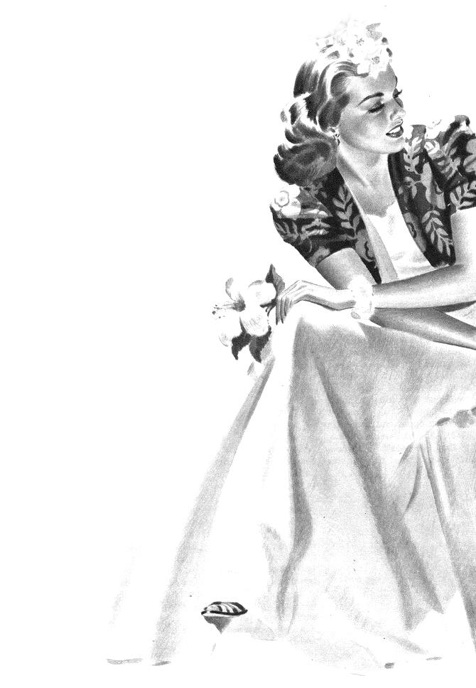 Sitting-gardenia holding